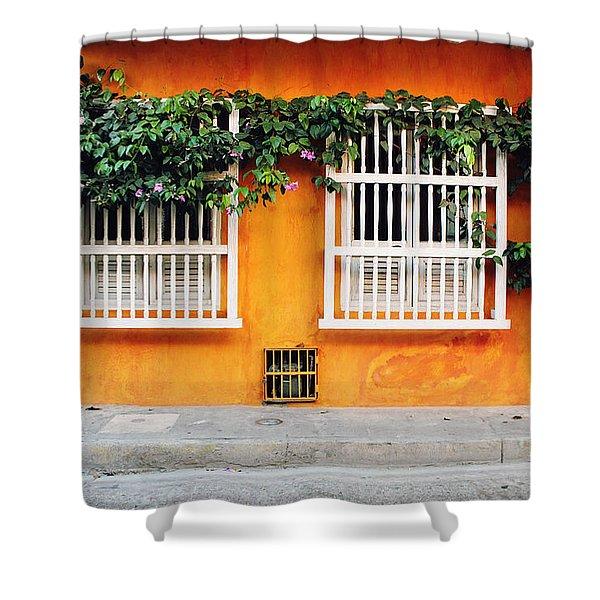 Cartagena Street Shower Curtain