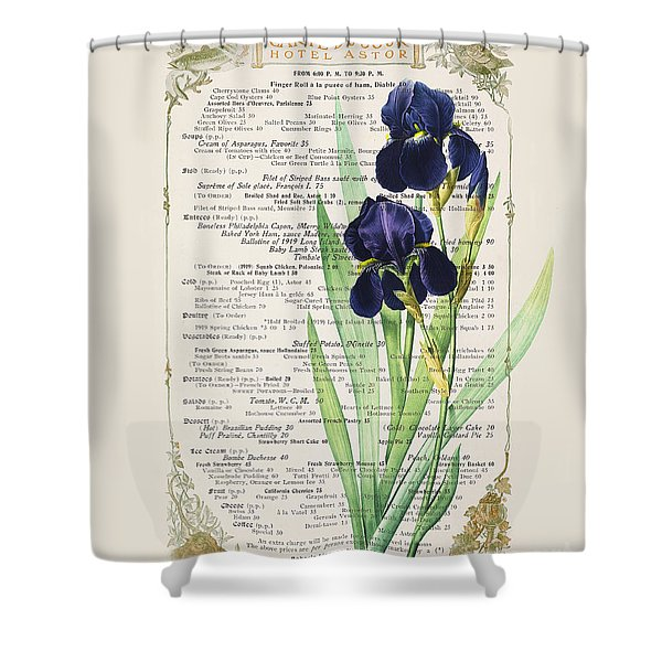 Carte Du Jour Shower Curtain