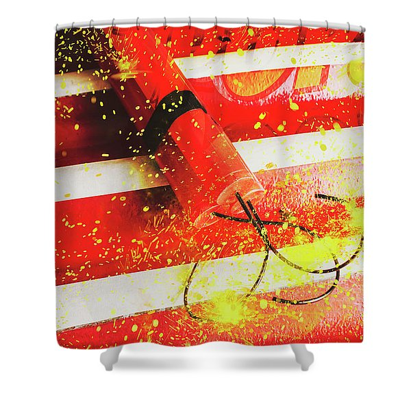 Cartoon Bomb Shower Curtain
