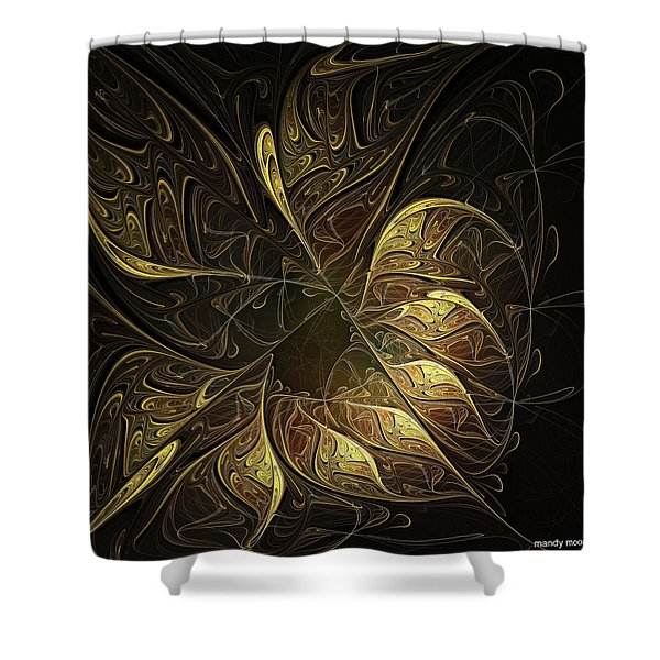 Carved In Gold Shower Curtain
