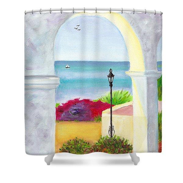 Casa Romantica View Shower Curtain