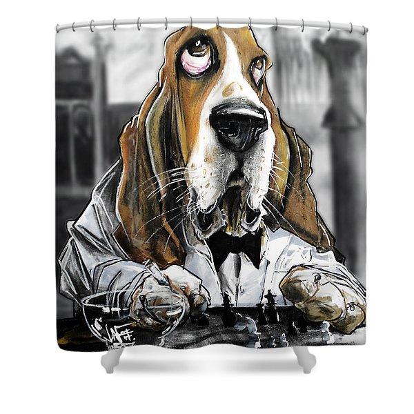 Casablanca Basset Hound Caricature Art Print Shower Curtain