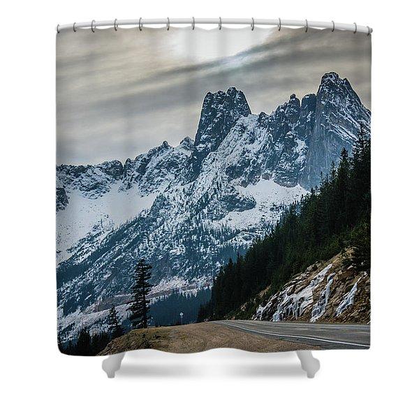 Cascade Beauty Shower Curtain