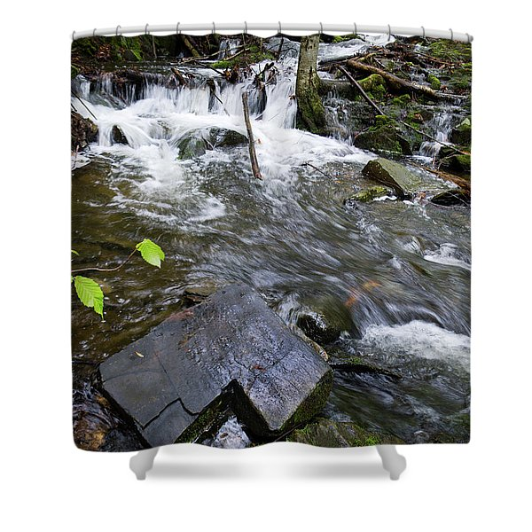 Cascade Falls Stream, Farmington, Maine  -30329 Shower Curtain