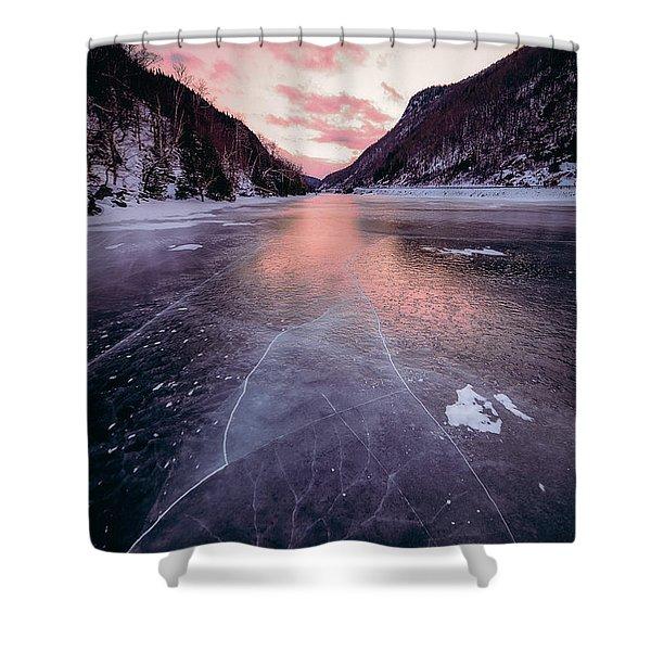 Cascade Ice Shower Curtain