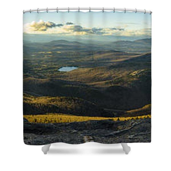 Cascade Mountain Sunset Shower Curtain