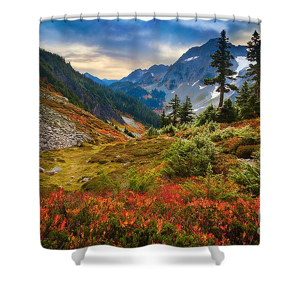 Cascade Pass Fall Shower Curtain
