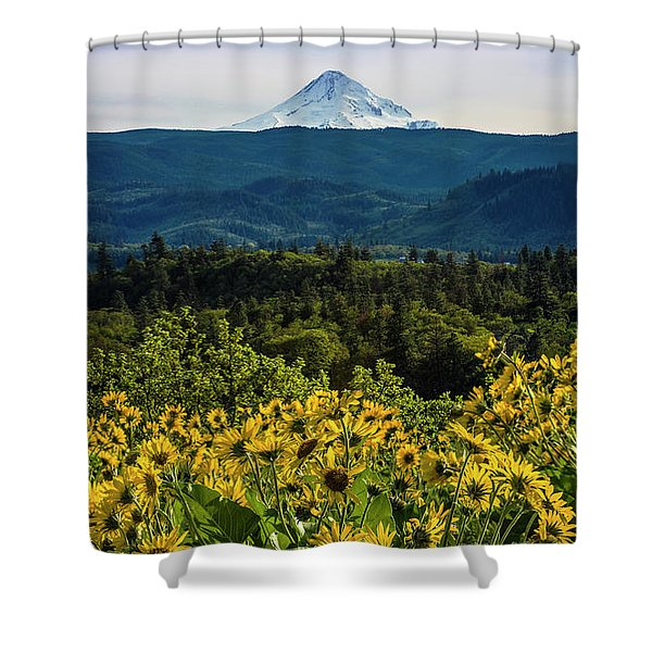 Cascade Spring Shower Curtain