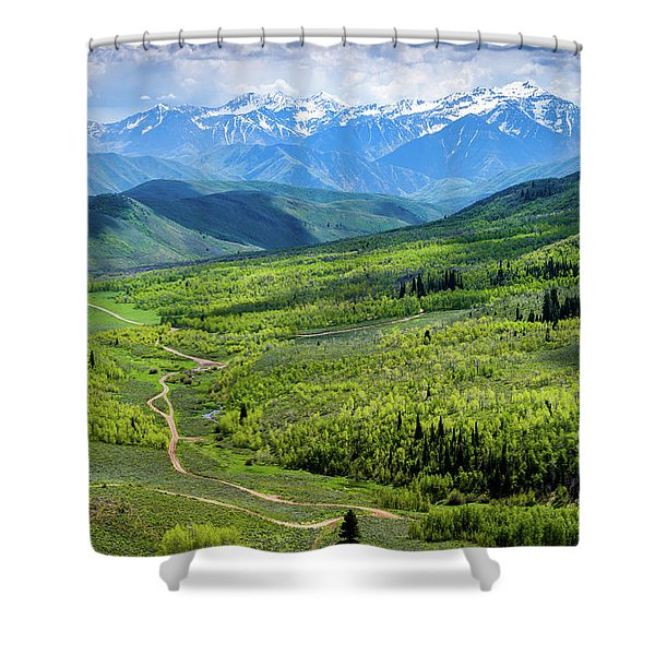 Cascade Spring Valley Shower Curtain