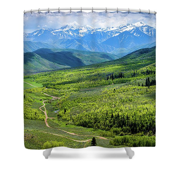 Cascade Spring Valley Shower Curtain