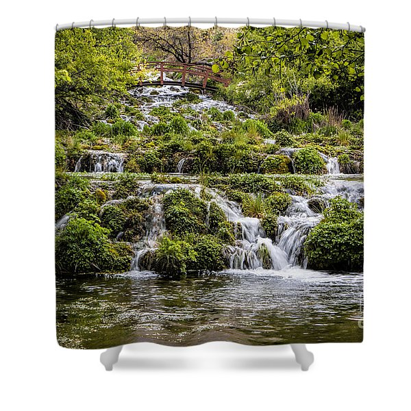 Cascade Springs Utah Shower Curtain