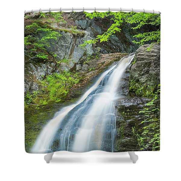 Cascade Waterfalls In South Maine Shower Curtain