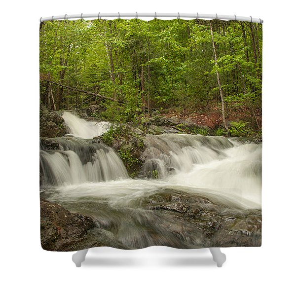 Cascades On The Brooks Falls Trail Shower Curtain