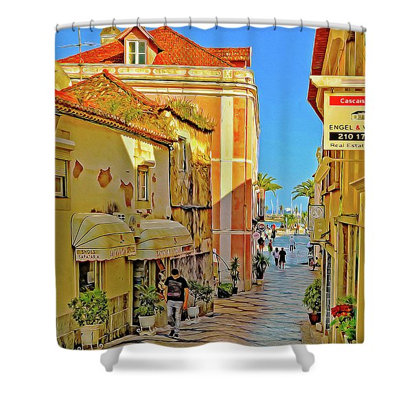 Cascais In The Morning Shower Curtain
