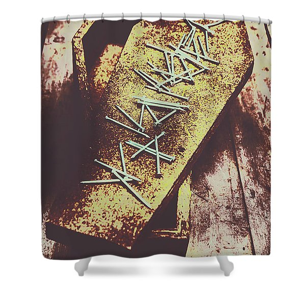 Casket Closing Shower Curtain