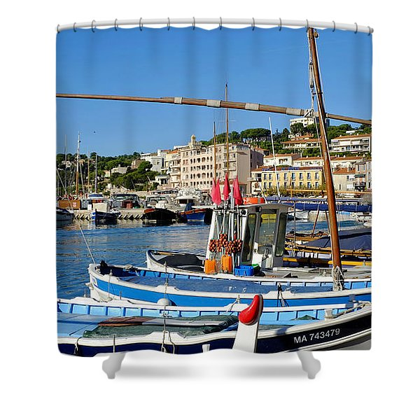 Cassis Harbor Shower Curtain