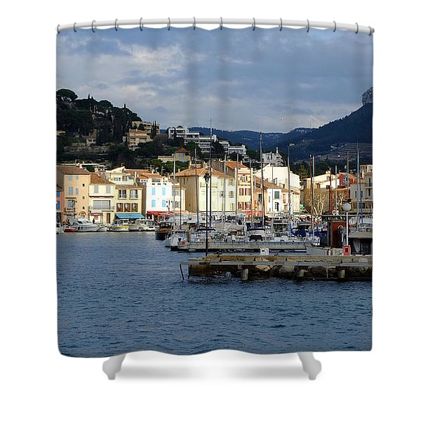 Cassis Town And Harbor Shower Curtain