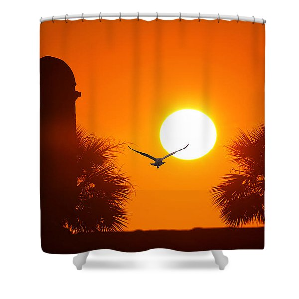Castillio De San Marcos Shower Curtain