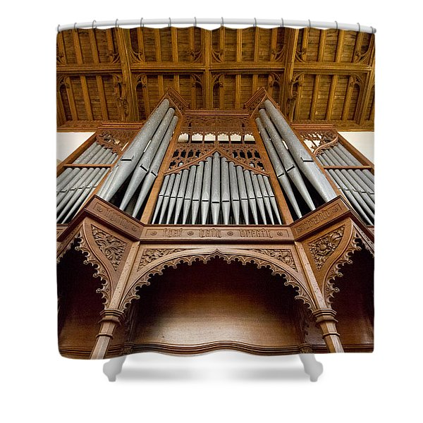 Castle Ashby Pipe Organ Shower Curtain