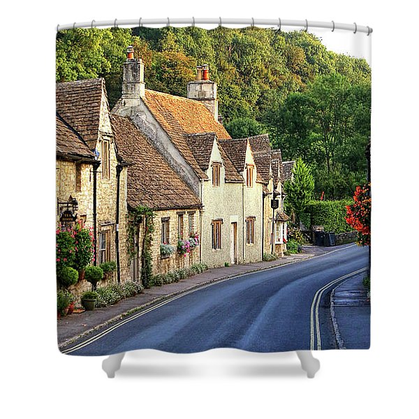 Shower Curtain featuring the photograph Castle Combe High Street by Michael Hope