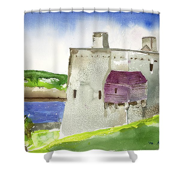 Castle From The Hill Shower Curtain