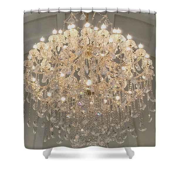 Castle Front Hall 01 Shower Curtain