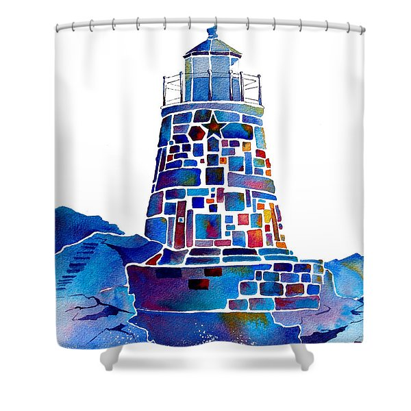 Castle Hill Newport Lighthouse Shower Curtain