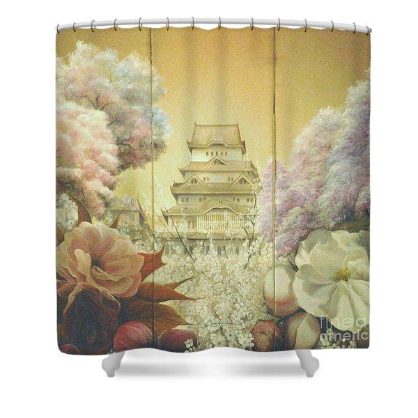 Castle Himeji - Sakura Shower Curtain