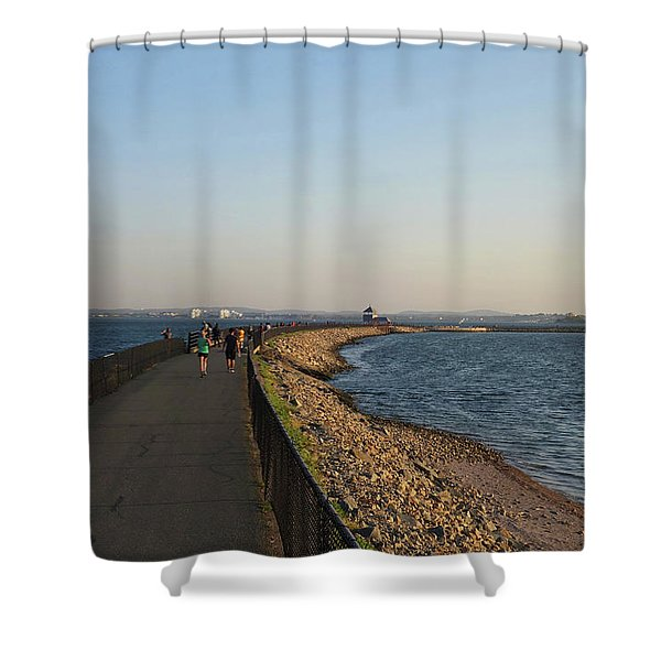 Castle Island Loop Trail Boston Ma Shower Curtain