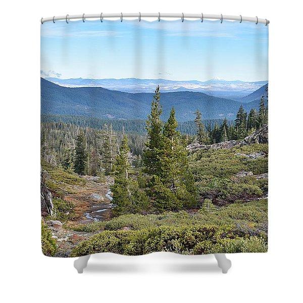 Castle Lake Trail Shower Curtain