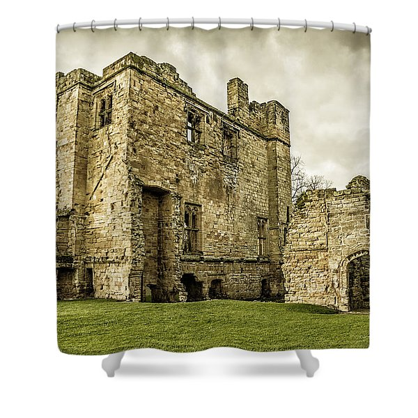 Shower Curtain featuring the photograph Castle Of Ashby by Nick Bywater