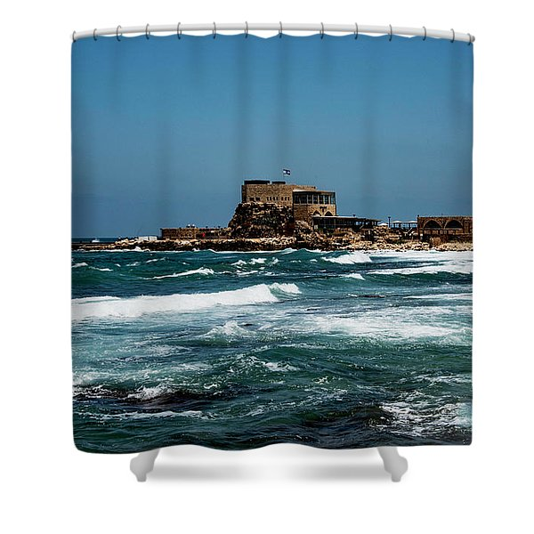 Shower Curtain featuring the photograph Castle Of Herod The Great by Mae Wertz