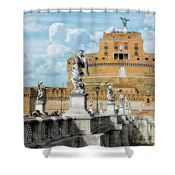 Castle Of The Holy Angel Shower Curtain