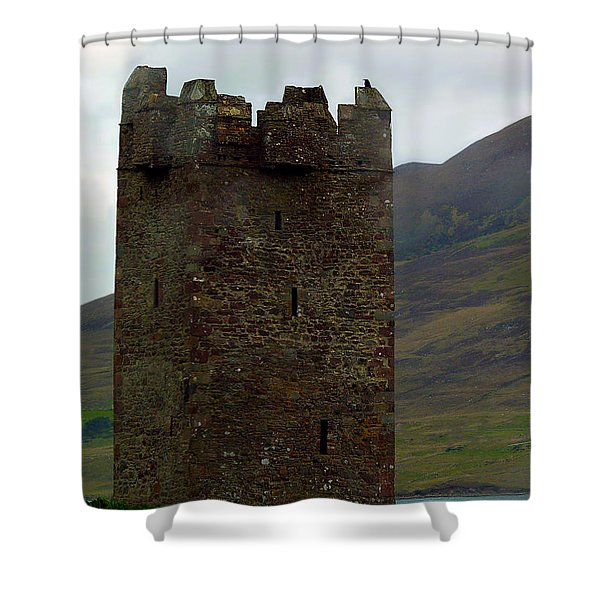 Castle Of The Pirate Queen Shower Curtain