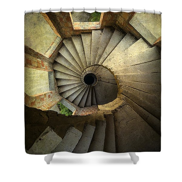 Shower Curtain featuring the photograph Castle Of Unfinished Dreams by Jaroslaw Blaminsky
