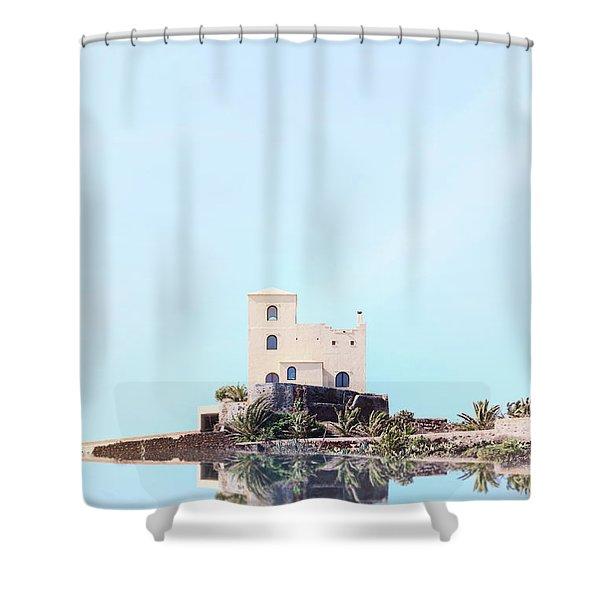 Castle Reflection Shower Curtain
