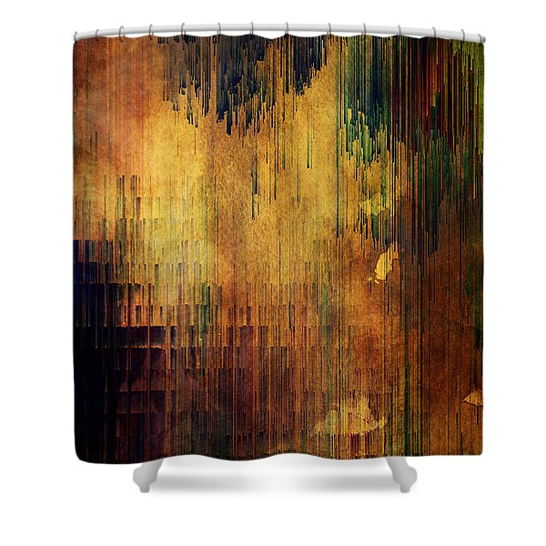 Castle View Planet Pixel Shower Curtain