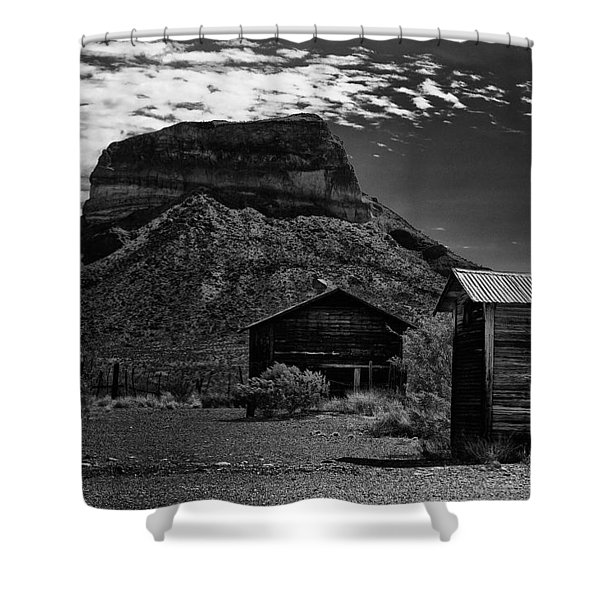 Castolon Ghost Town Shower Curtain