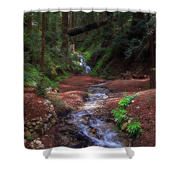 Castro Canyon In Big Sur Shower Curtain