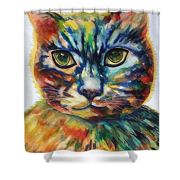 Cat A Tude Shower Curtain