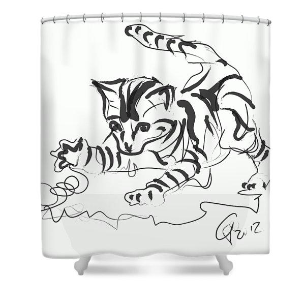 Cat- Cute Kitty  Shower Curtain
