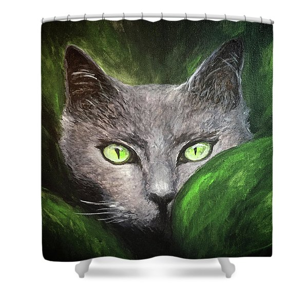 Cat Eyes Shower Curtain