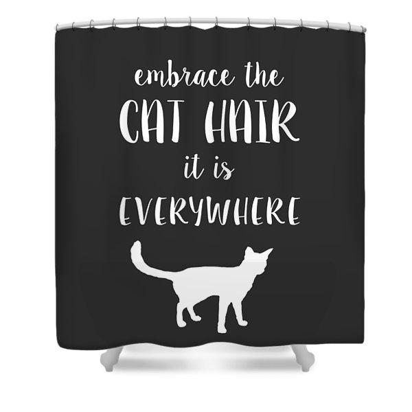 Cat Hair Shower Curtain