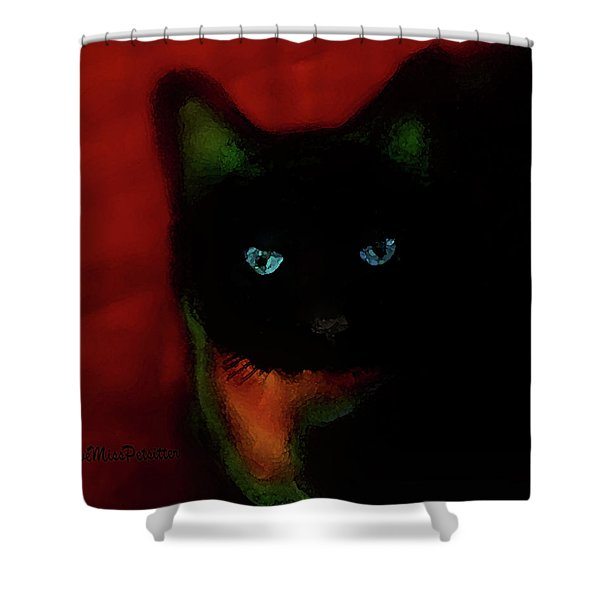 Cat Tiny You Painting Shower Curtain