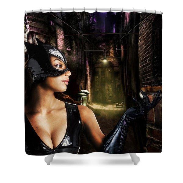 Cat Woman Shower Curtain