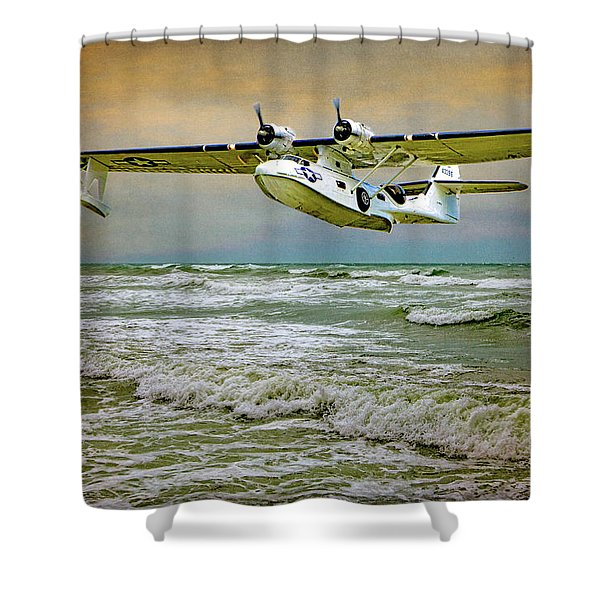 Catalina Flying Boat Shower Curtain