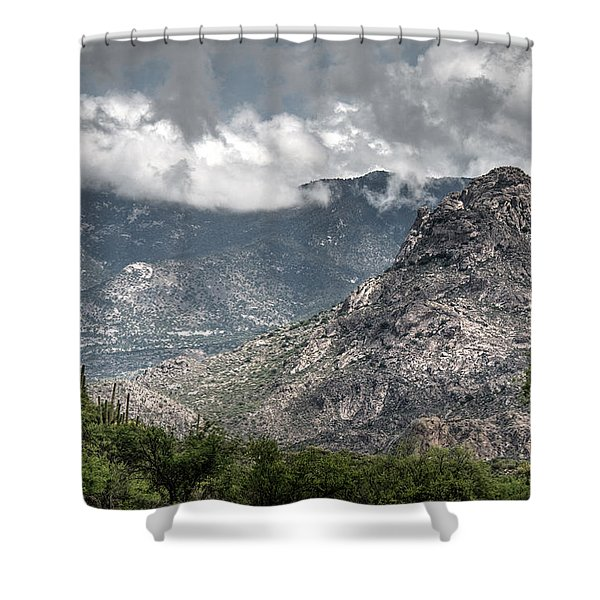 Catalina Mountains Shower Curtain