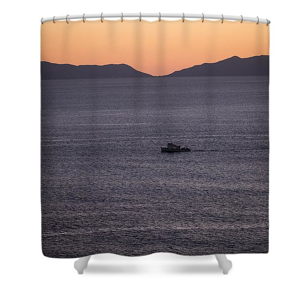 Catalina Orange Shower Curtain