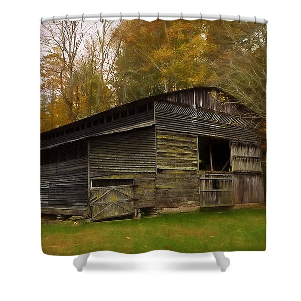 Cataloochee Valley Barn Shower Curtain