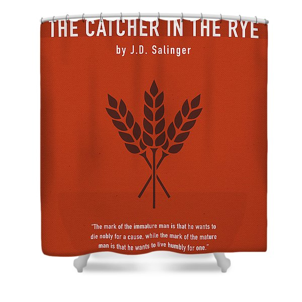 Catcher In The Rye By Jd Salinger Greatest Books Ever Series 025 Shower Curtain